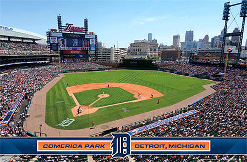 Comerica Park Detroit Tigers Gameday Official MLB Wall Poster - Costacos Sports