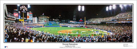 "Detroit Tigers Comerica Park ""Sweep Sensation"" (2006 ALCS) Panoramic Poster Print - Everlasting"