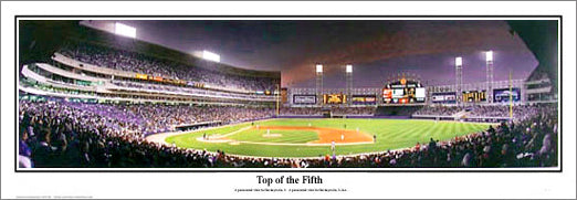 """Top of the Fifth"" White Sox vs. Cubs at Comiskey Panorama - Everlasting Images"