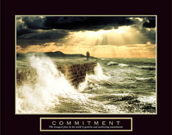 "Oceanside ""Commitment"" Inspirational Poster - Front Line"