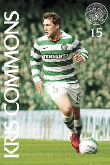 "Kris Commons ""Celtic Star"" Glasgow Celtic FC Poster - GB Eye 2011"