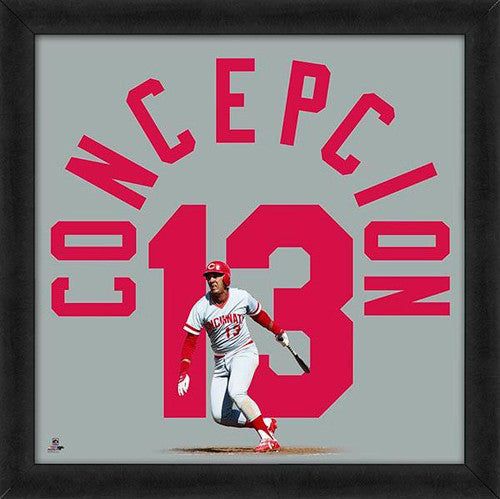 "Dave Concepcion ""Number 13"" Cincinnati Reds FRAMED 20x20 UNIFRAME PRINT - Photofile"