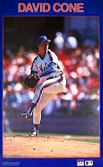 "David Cone ""Blue"" New York Mets Poster - Starline Inc. 1989"