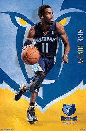 "Mike Conley ""Superstar"" Memphis Grizzlies NBA Basketball Action Poster - Costacos 2014"