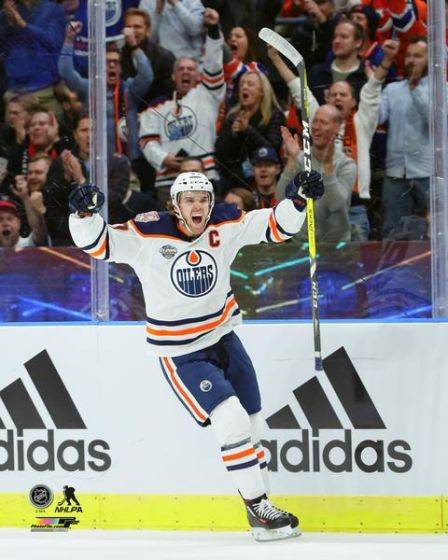 "Connor McDavid ""Game Winner"" Edmonton Oilers Premium Poster Print - Photofile 16x20"