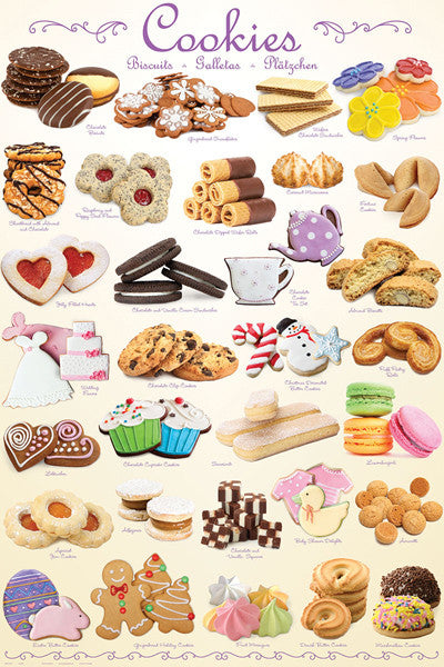The Cookies Poster (31 Creations - Delicious Bakery Desserts) - Eurographics