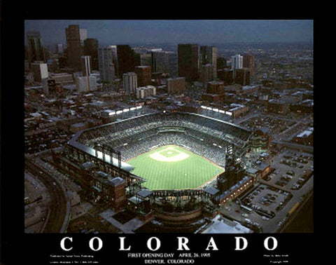 Colorado Rockies Coors Field First Opening Day Poster - Aerial Views 1995