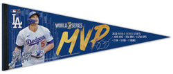 Corey Seager Los Angeles Dodgers 2020 World Series MVP Premium Felt Collector's Pennant - Wincraft