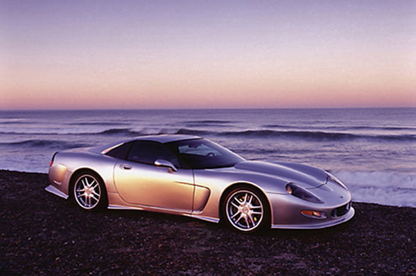 Chevrolet Corvette Callaway C12 (1998) Car on Beach at Sunset Poster - Eurographics Inc.
