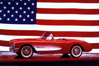 "1957 Corvette ""American Classic"" Cool Car Poster - Eurographics Inc."