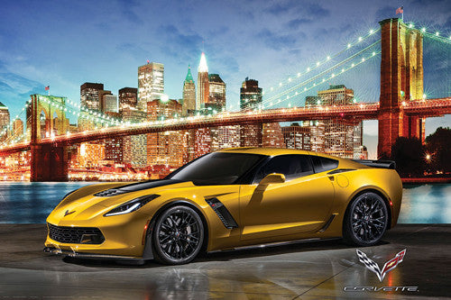 "Corvette Z06 ""New York Night"" Autophile Profile Sports Car Poster - Eurographics"