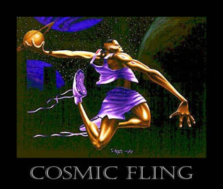 """Cosmic Fling"" (Basketball) - Kadir Nelson 1995"