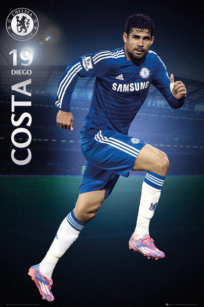 "Diego Costa ""Superstar"" Chelsea FC Official EPL Action Poster - GB Eye (UK)"