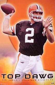 "Tim Couch ""Top Dawg"" Cleveland Browns Poster - Costacos 2000"