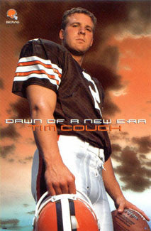 "Tim Couch ""Dawn of a New Era"" Cleveland Browns Poster - Costacos 1999"