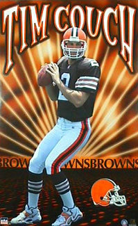 "Tim Couch ""Glow"" Cleveland Browns Poster - Starline Inc. 1999"