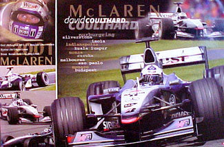 David Coulthard McLaren 2001 Formula 1 Racing Poster - UK 2001