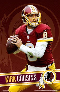 "Kirk Cousins ""Gunslinger"" Washington Redskins NFL Action Wall Poster - Trends International"