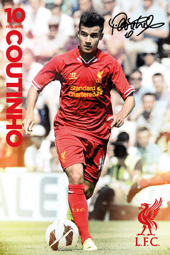 "Philippe Coutinho ""Signature"" Liverpool FC Soccer Action Poster - GB Eye (UK)"