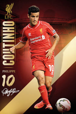"Philippe Coutinho ""Signature Series"" Liverpool FC EPL Action Poster - GB Eye (UK)"