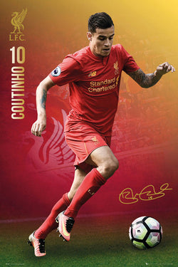 "Phillippe Coutinho ""Signature Series"" Liverpool FC Official EPL Football Poster - GB Eye 2016/17"