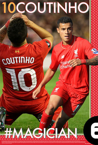 "Philippe Coutinho ""#MAGICIAN"" Liverpool FC EPL Soccer Poster - Starz"