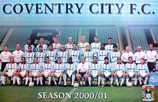 Coventry City Team Poster - U.K. 2001
