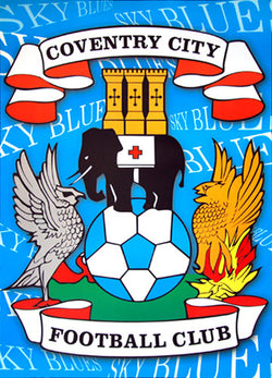 Coventry City FC Sky Blues Official Team Crest Logo Poster - UK Import