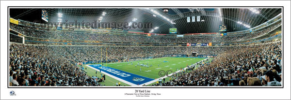 "Texas Stadium ""20 Yard Line"" Dallas Cowboys Panoramic Poster Print - Everlasting Images"