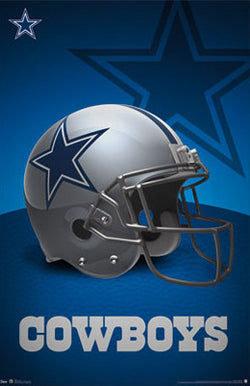 Dallas Cowboys Official NFL Team Helmet Logo Poster - Costacos Sports