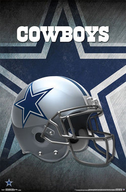 Dallas Cowboys Official NFL Football Team Helmet Logo Poster - Trends International