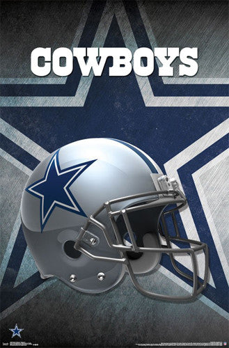 *SHIPS 5/25* Dallas Cowboys Official NFL Football Team Helmet Logo Poster - Trends International