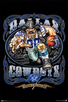 "Dallas Cowboys ""Grinding it Out Since 1960"" NFL Poster - Costacos Sports/Liquid Blue"