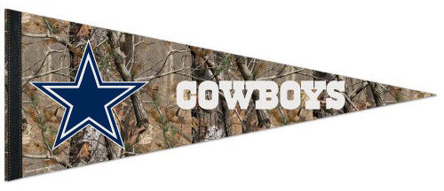 "Dallas Cowboys ""Backwoods"" (Realtree) Premium NFL Felt Pennant - Wincraft"