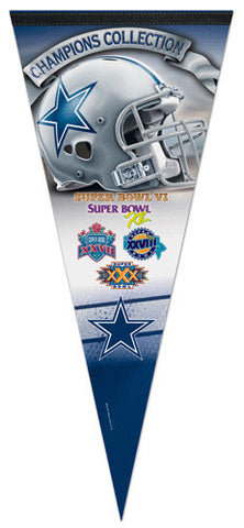 Dallas Cowboys 5-Time Super Bowl Champions EXTRA-LARGE Premium Pennant
