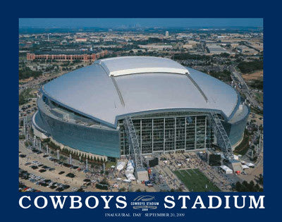 Dallas Cowboys Stadium Inaugural Day (9/20/2009) Commemorative Poster Print