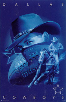 Dallas Cowboys Official NFL Pro Player Theme Art Design Poster - Costacos Sports 1997