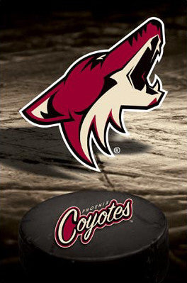 Phoenix Coyotes Official Team Logo Poster - Costacos