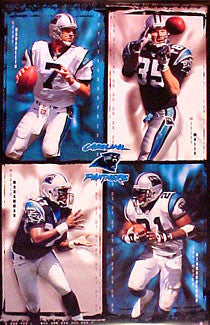 "Carolina Panthers ""Supertars 2000"" NFL Action Poster - Costacos Sports"