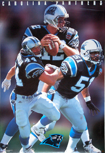 Carolina Panthers Inaugural Season NFL Action Poster - Costacos Brothers 1995