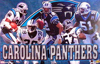 "Carolina Panthers ""Five Stars"" NFL Action Poster (1997) - Starline Inc."