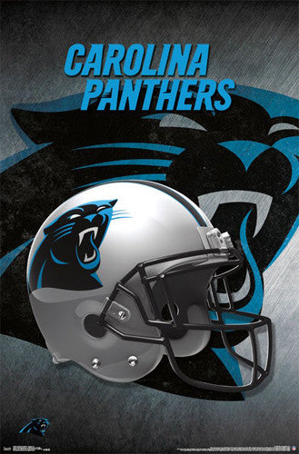 Carolina Panthers Official NFL Football Team Helmet Logo Poster - Trends International