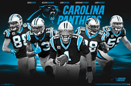 "Carolina Panthers ""Superstars"" 5-Player NFL Action Poster - Trends International"