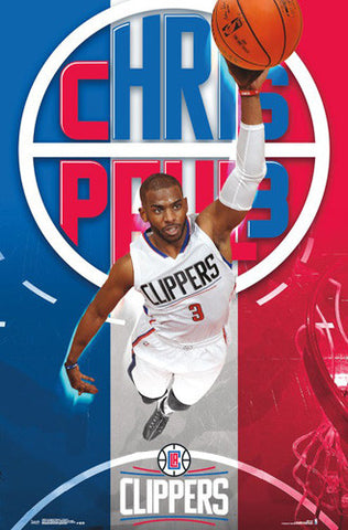 "Chris Paul ""Rising"" L.A. Clippers NBA Action Wall Poster - Trends International 2016"