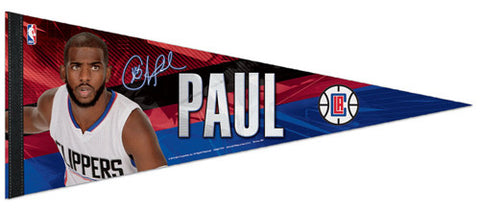 "Chris Paul ""Signature Series"" LA Clippers NBA Premium Felt Collector's Pennant - Wincraft Inc."