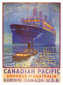 Canadian Pacific Empress of Australia Vintage Poster Reprint
