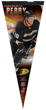 "Corey Perry ""Superstar"" Anaheim Ducks Premium Felt Collector's Pennant - Wincraft 2013"