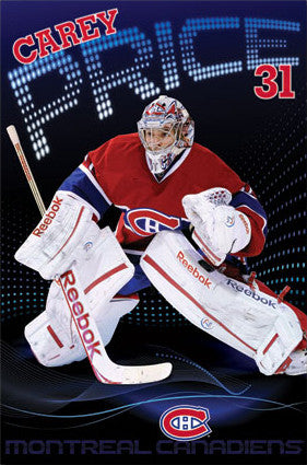 "Carey Price ""Marquee"" Montreal Canadiens Poster - Costacos 2013"