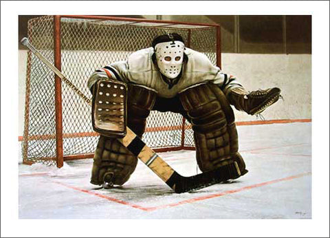 At the Crease (Classic Goalie) by Ken Danby Official Large-Size Art Print
