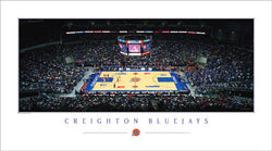 "Creighton Bluejays Basketball ""Center Court"" Premium Poster Print - Rick Anderson Inc."